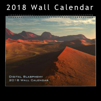 Digital Blasphemy 2018 Wall Calendar