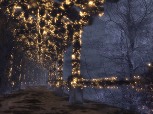 The Shaded Path (Winter/Night)