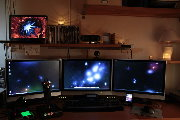 Andreas O Silfver's Triple-Screen Setup