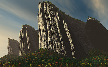 Autumn Cliffs